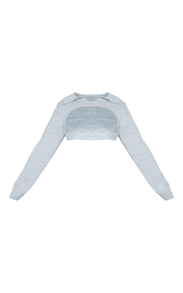 Plus Grey Super Cropped Sweater 5