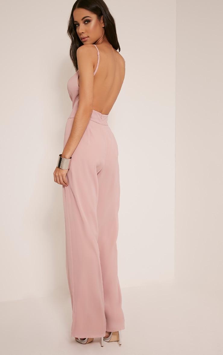 Teeah Dusty Pink High Neck Jumpsuit 5