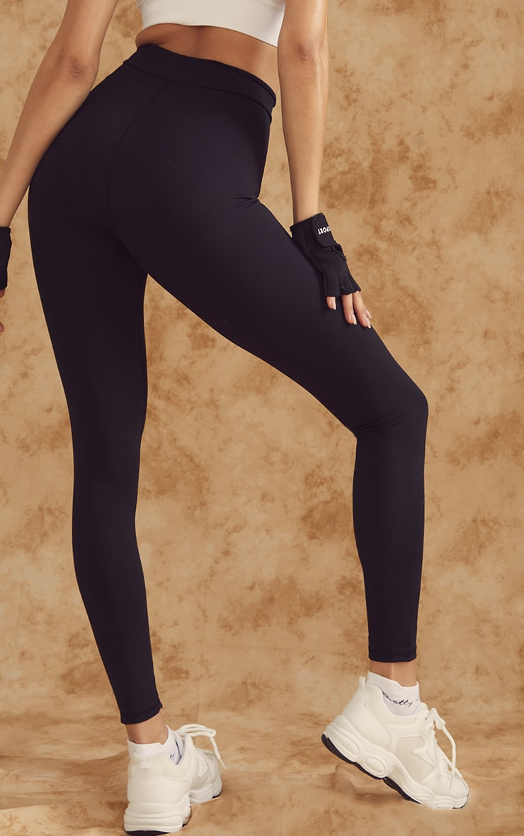 PRETTYLITTLETHING Black Sculpt Luxe Gym Leggings 3