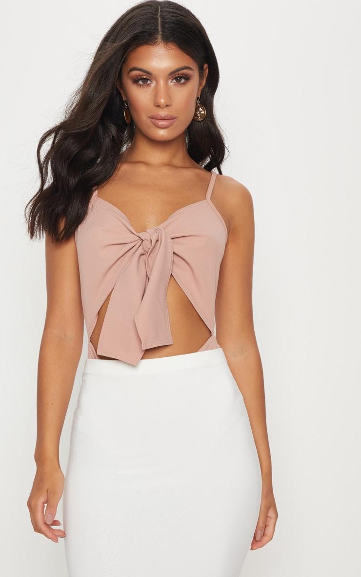 Plus Dusty Pink Slinky Twist Front Bardot Bodysuit Pretty Little Thing Free Shipping Shop Countdown Package Sale Amazon RKSVkvDRve