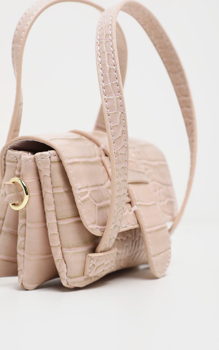 Cream Croc Extra Mini Bag 3