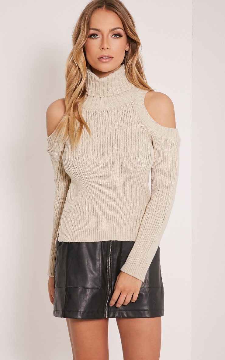 Piper Stone Cut Out Shoulder Jumper 1