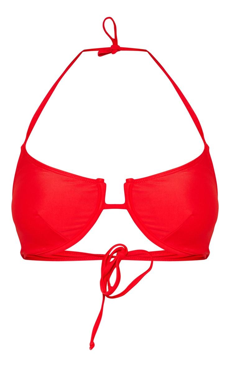 Red Underwired Tanga Bikini Top 6