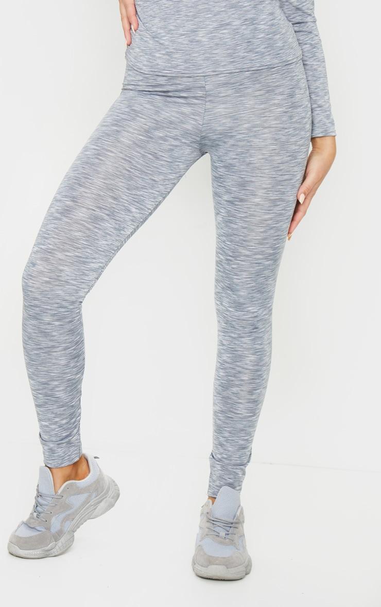 Light Grey Marl High Waist Gym Legging 2