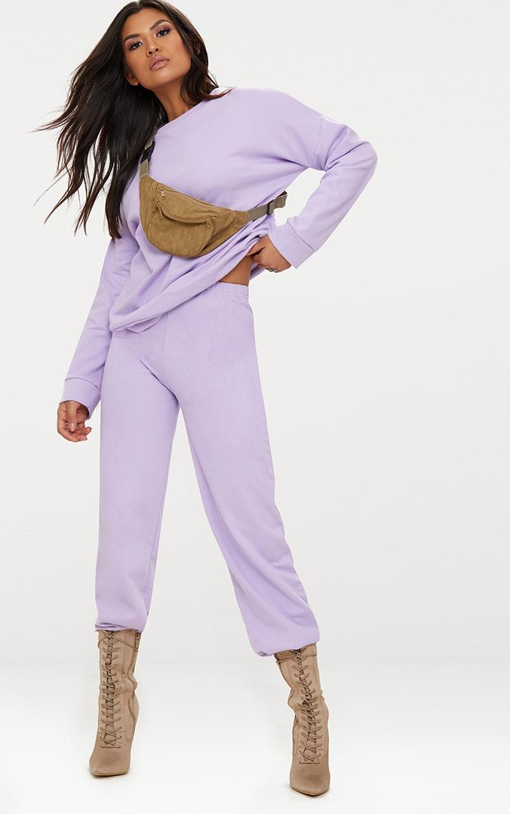 Lilac Sweat Joggers 1