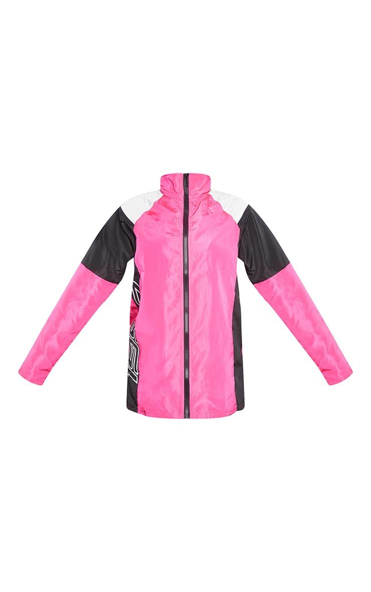 Petite Pink Nylon 1997 Oversized Sports Jacket 5