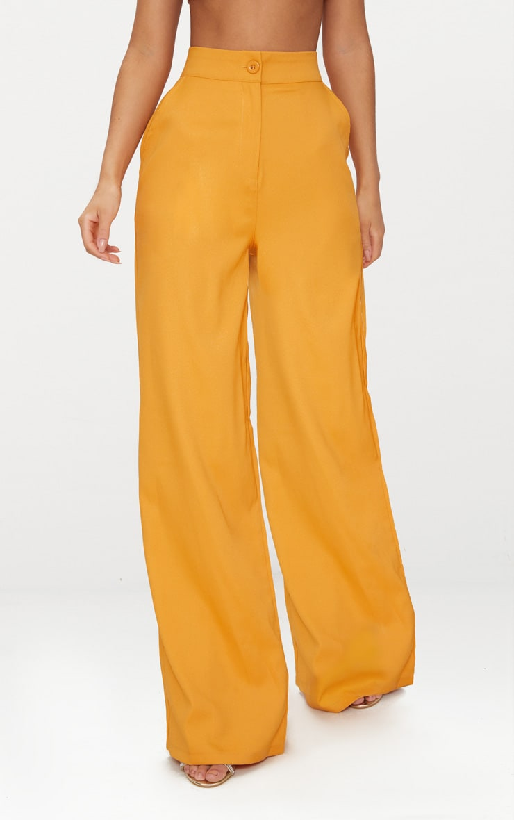 Mustard Wide Leg Suit Trouser  2