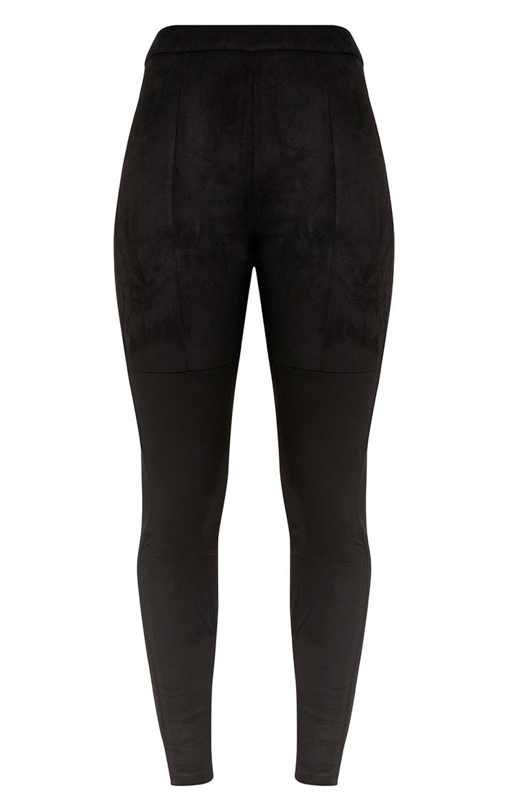Elsie legging taille haute imitation daim noir 3