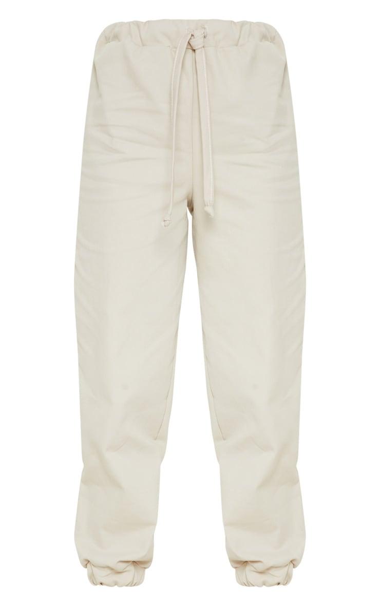 Petite Stone  Elastic Waist Jogger Pants 4