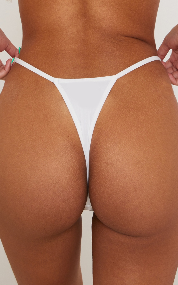 White Microfibre Thong 3 Pack 2