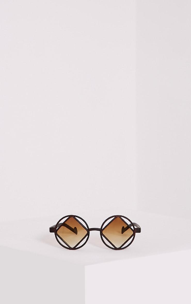Asha Black Square Cut Out Lens Sunglasses 3