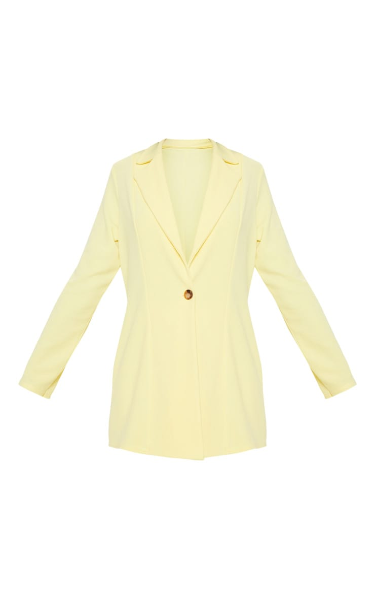 Lemon Oversized Boyfriend Blazer 3
