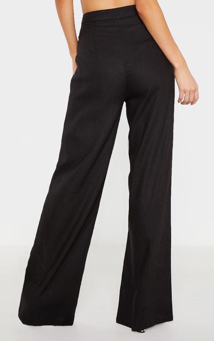 Tall Black Wide Leg High Waist Pant 3