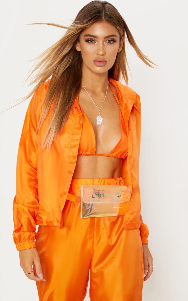 Orange Button Detail Shell Shirt 2