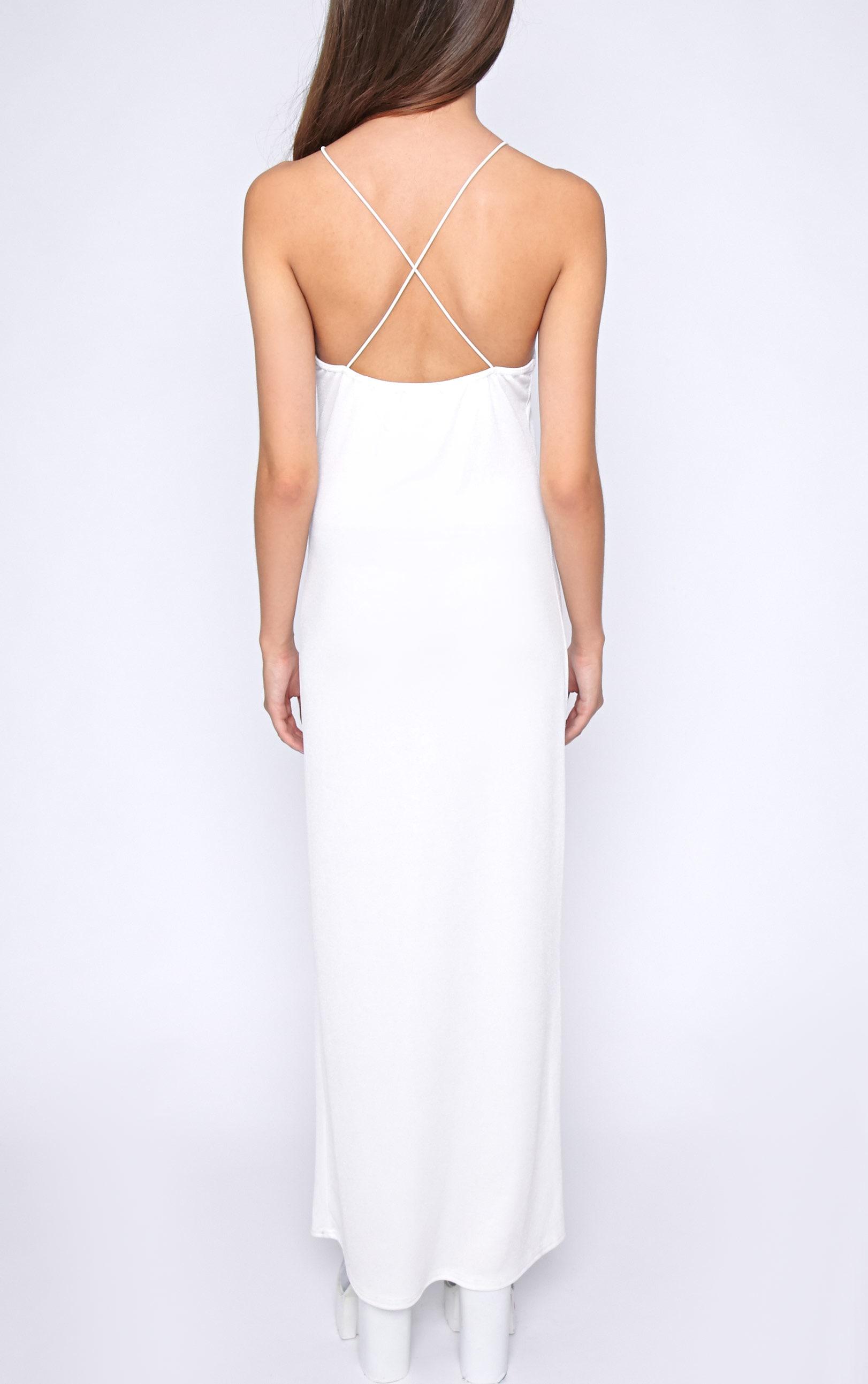 Becca White Cross Back Maxi Dress 2