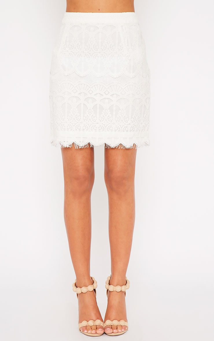 Linnea Cream Lace Skirt 3