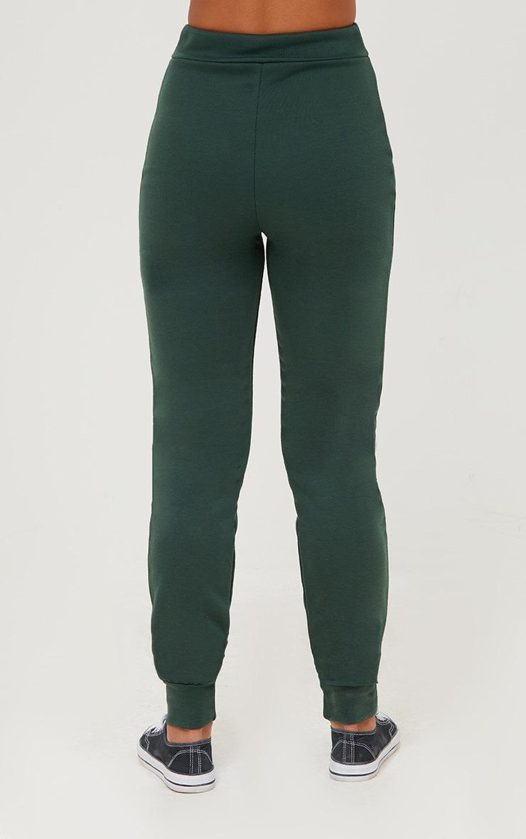 Emerald Green Track Stripe Joggers 4