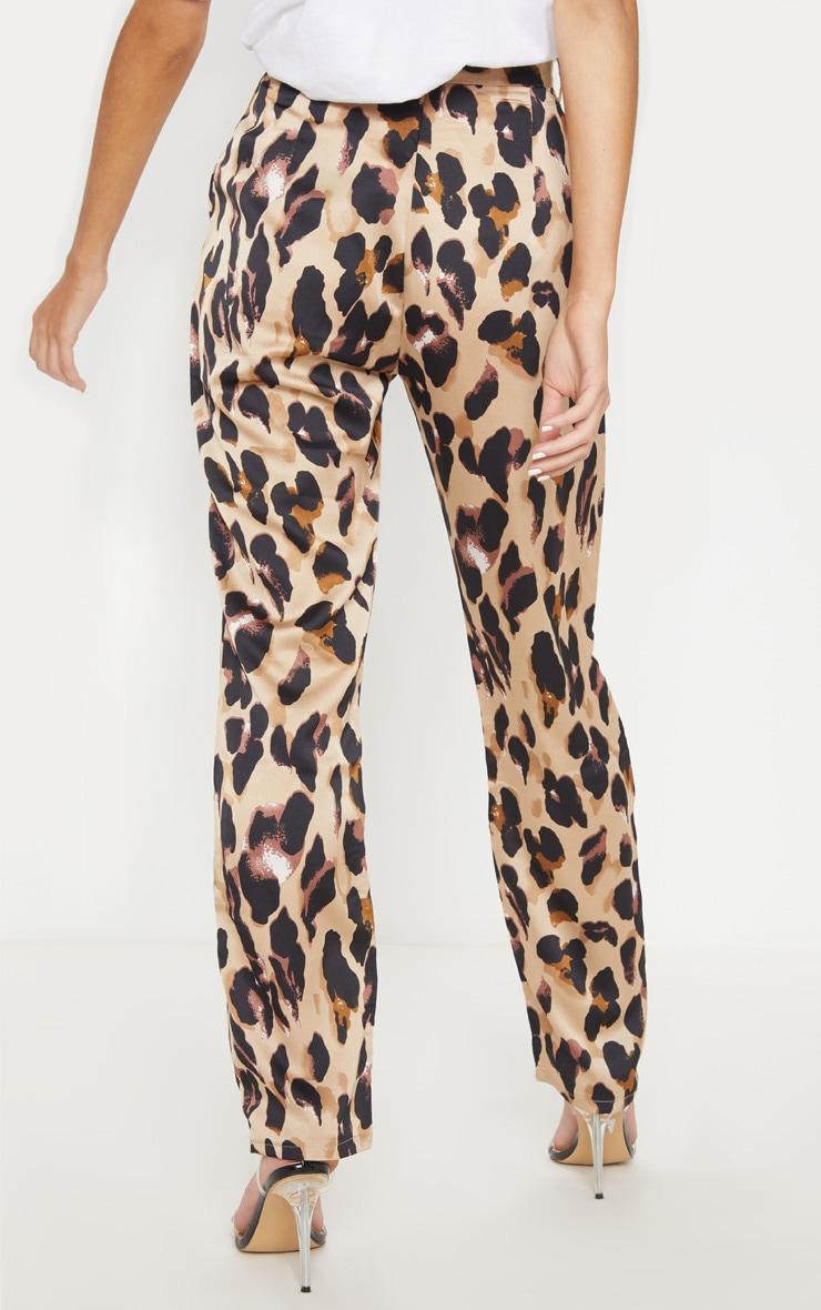 Leopard Print Satin Feel Printed Slim Leg Trouser 4