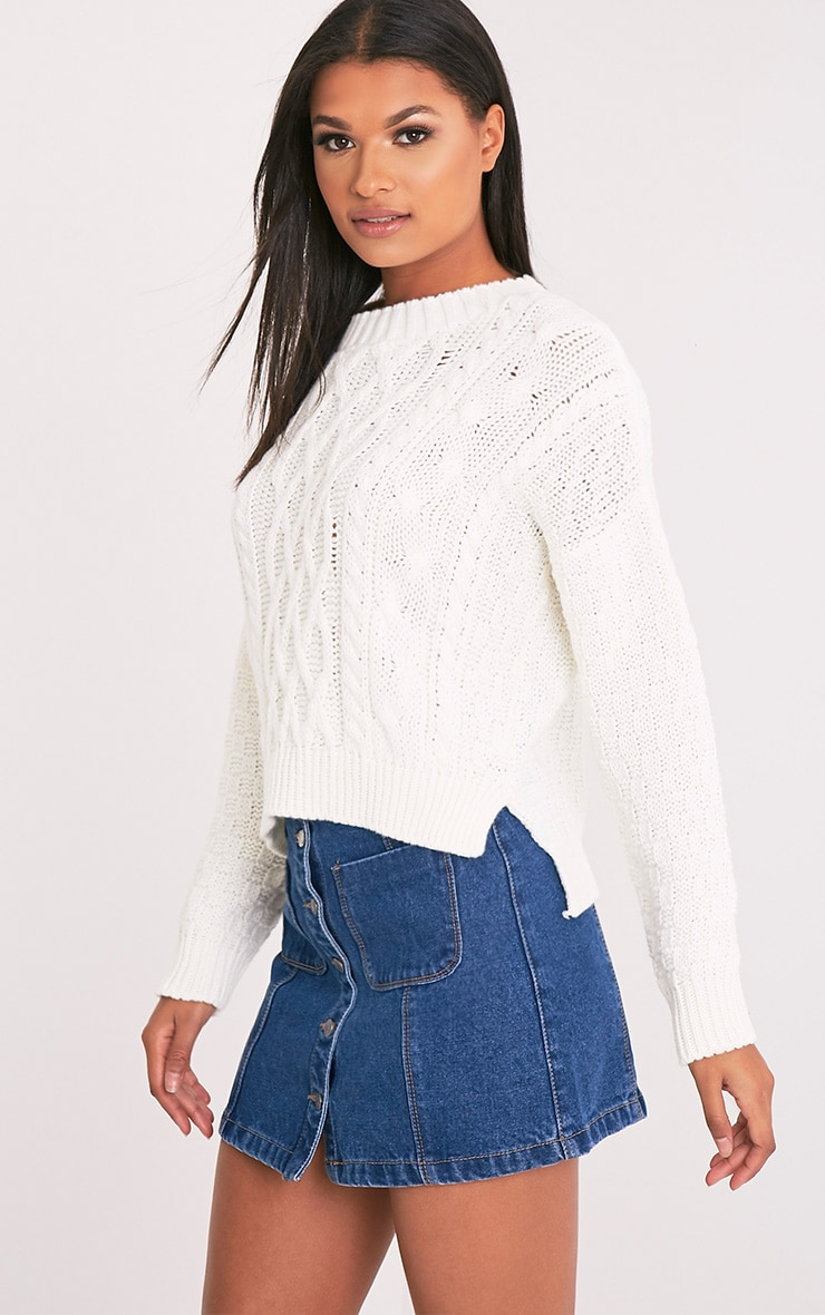 Chyanne Cream Cable Knit Jumper 4