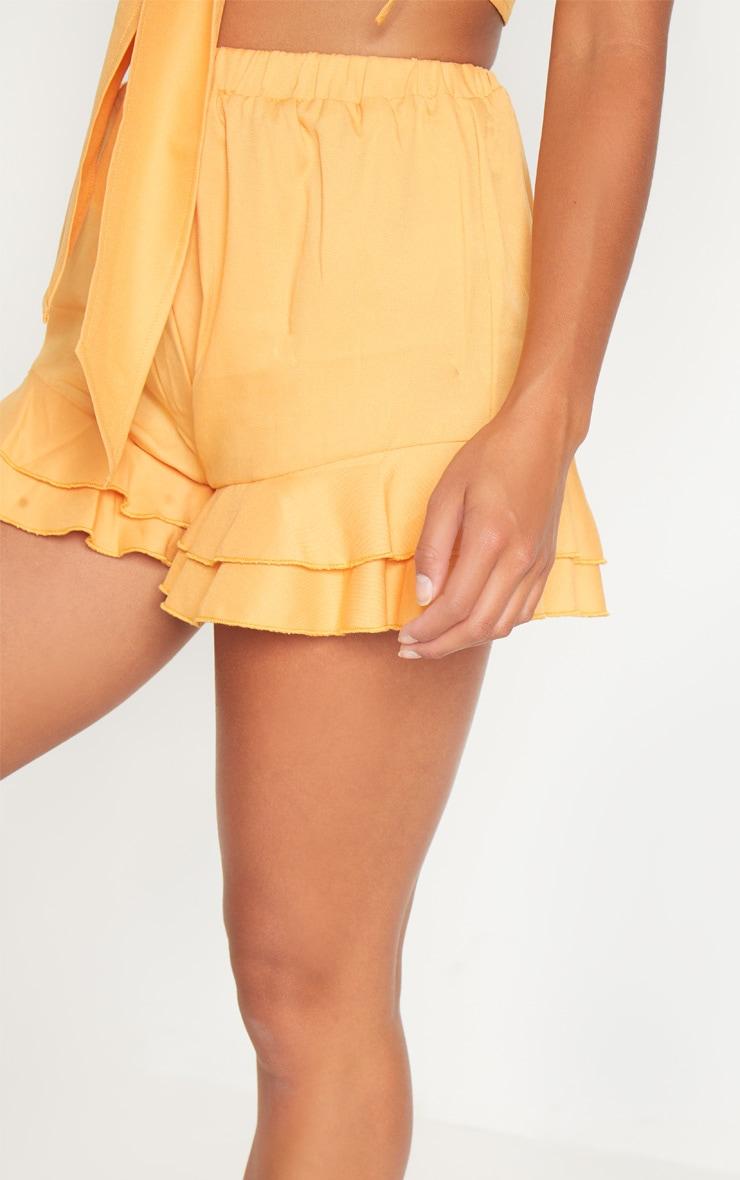 Petite Mustard Frill Hem Shorts 6