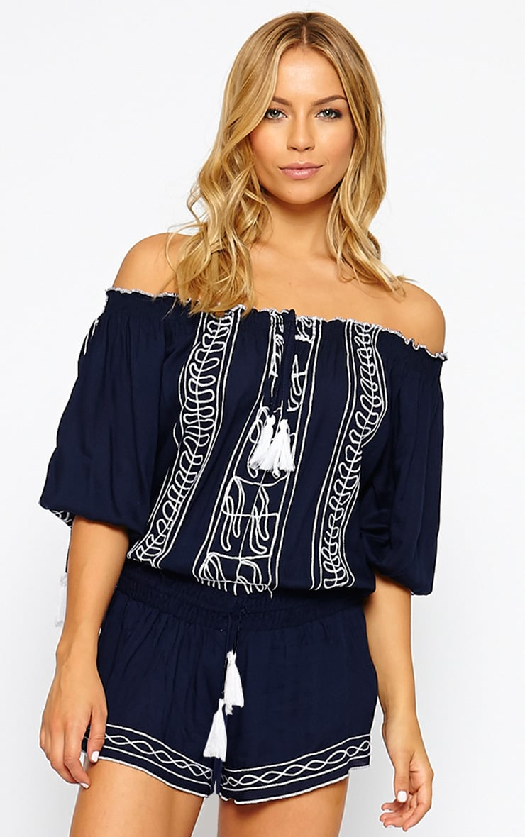 Alarice Navy Tassel Playsuit 1