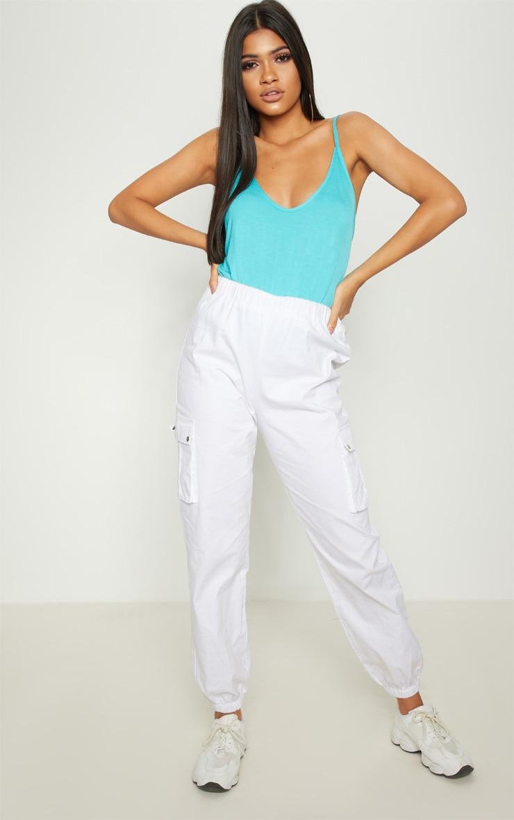 Basic Blue Jersey V Neck Swing Vest  4
