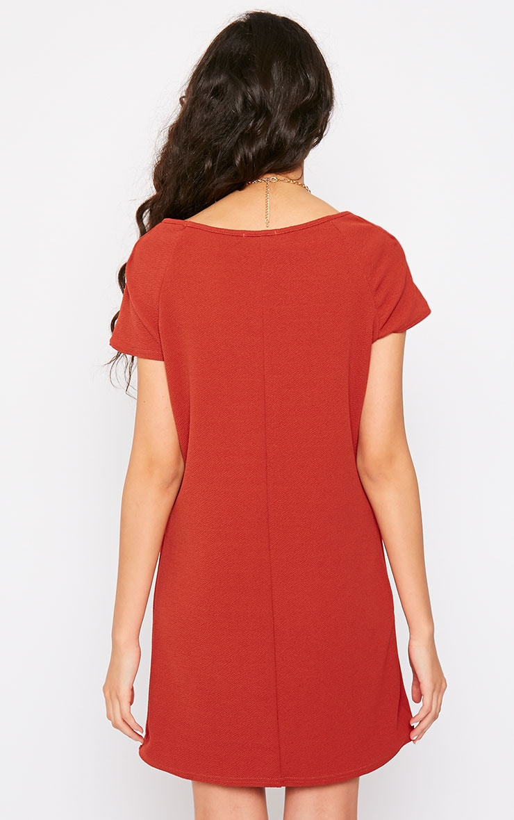 Camila Rust Loose Fit Shift Dress 2