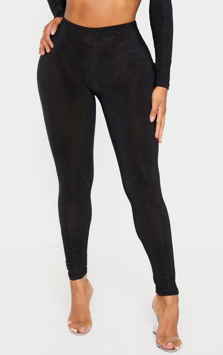 Shape Black Glitter High Waist Legging 2