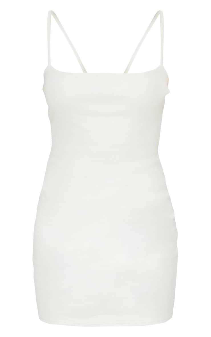 Petite Cream Cotton Jersey Square Neck Mini Dress 5