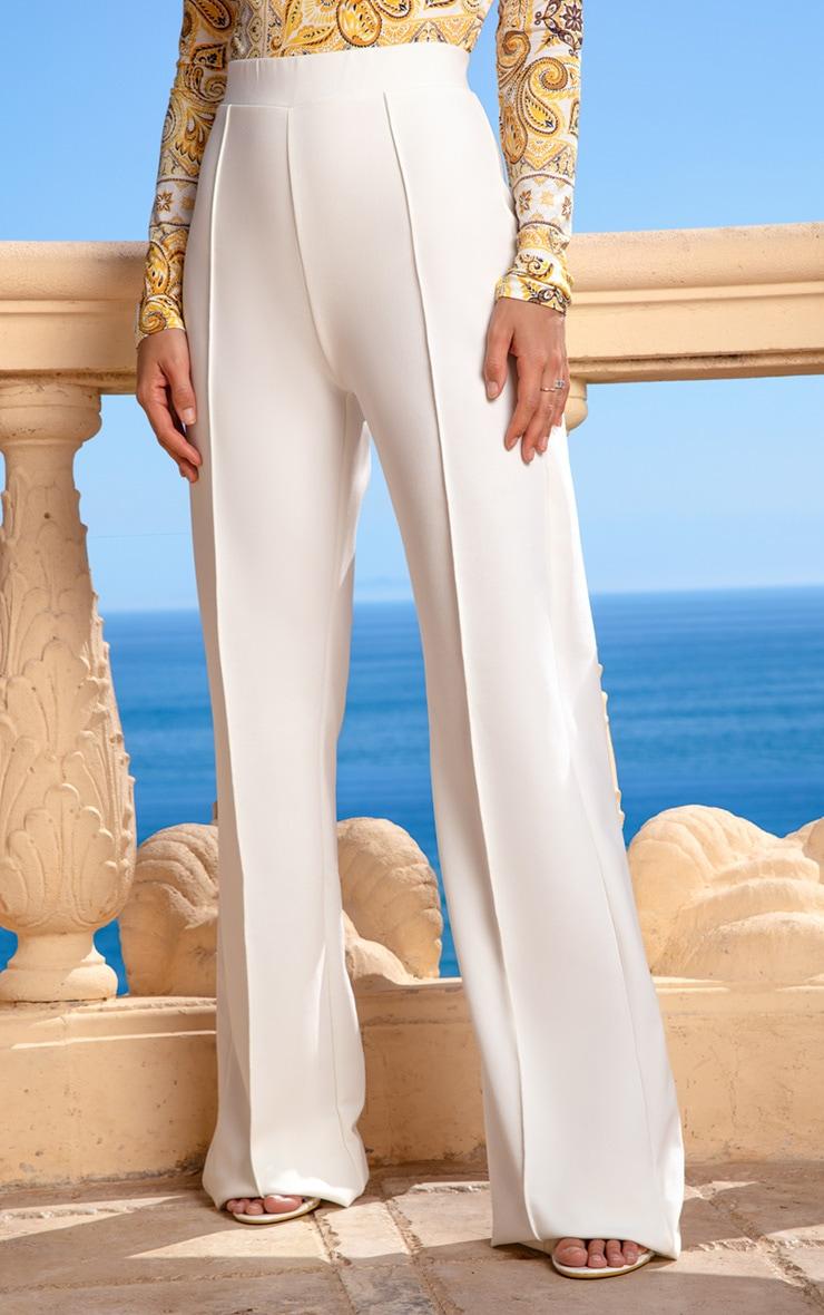 Cream Wide Leg Pants 2