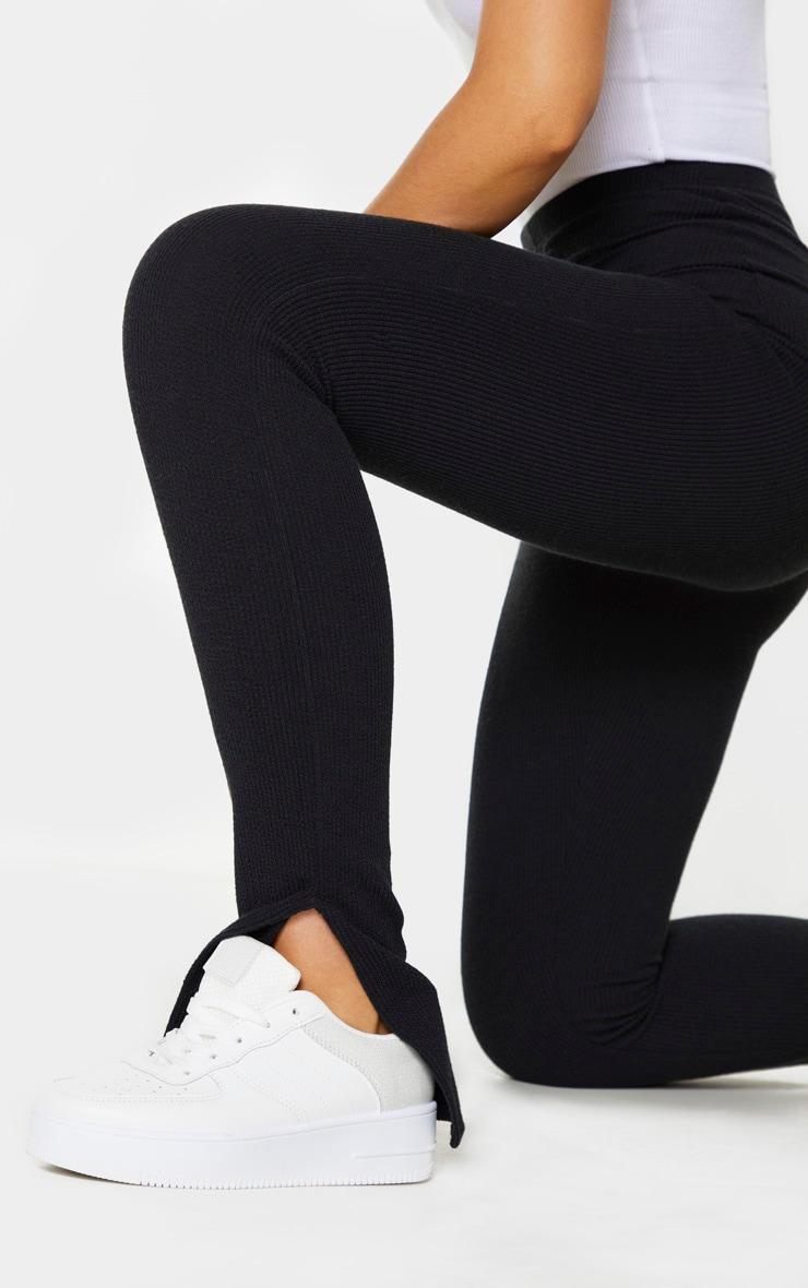 Tall - Legging en maille noir àourlet fendu 4