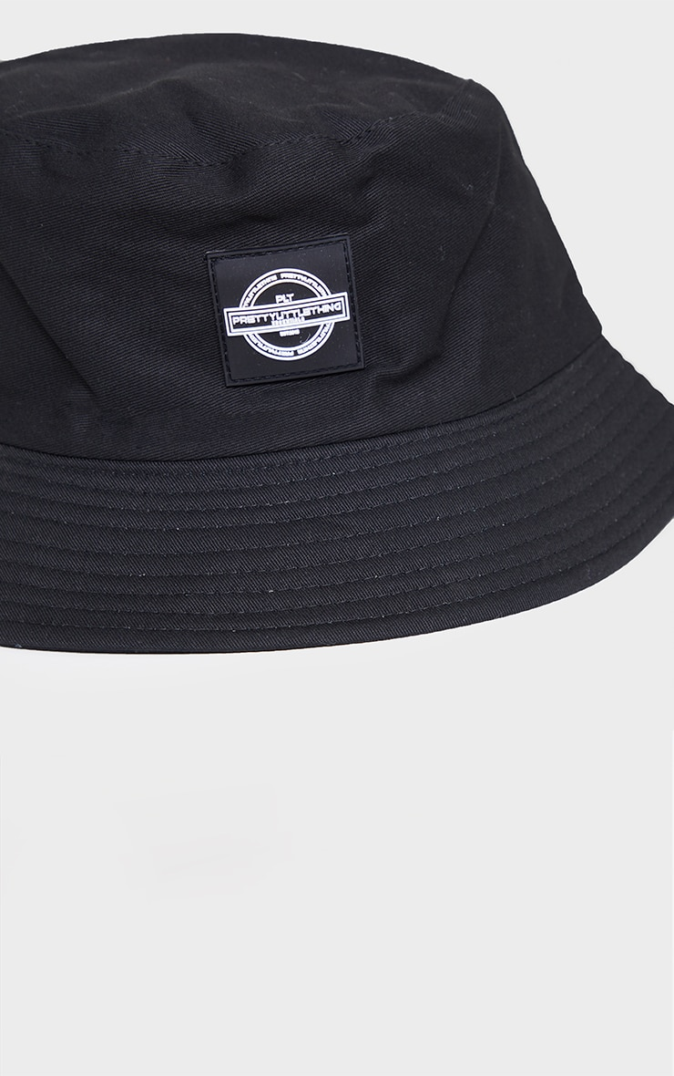 PRETTYLITTLETHING Black Branded Bucket Hat 3
