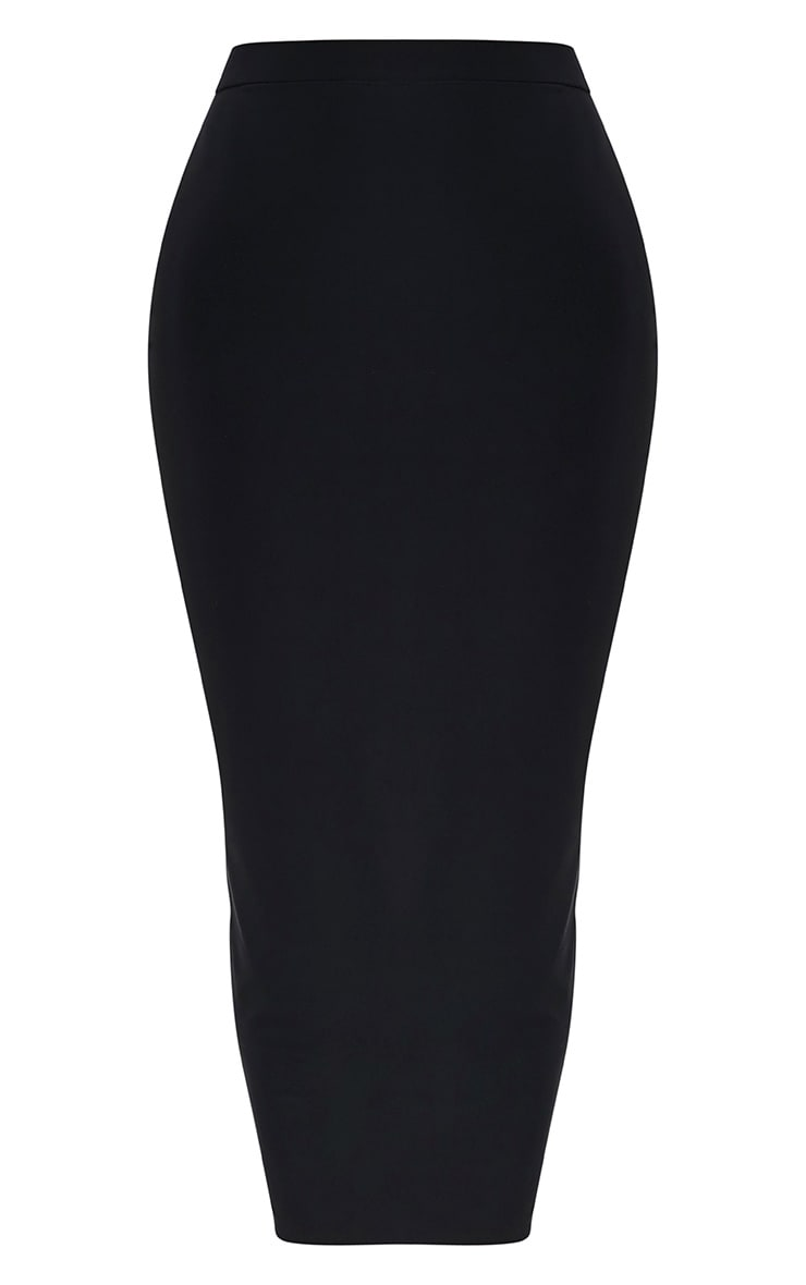 Shape Francisca Black Slinky Midi Skirt  3
