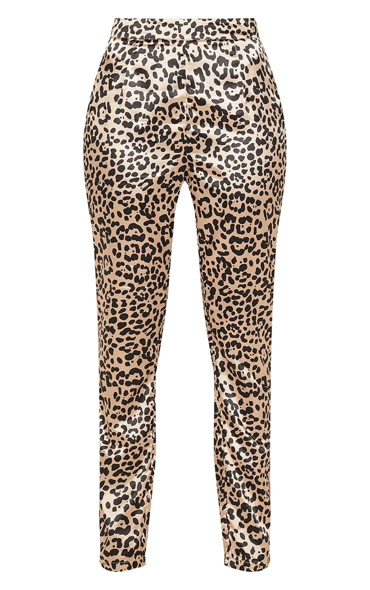 Brown Leopard Print Suit Pants 3