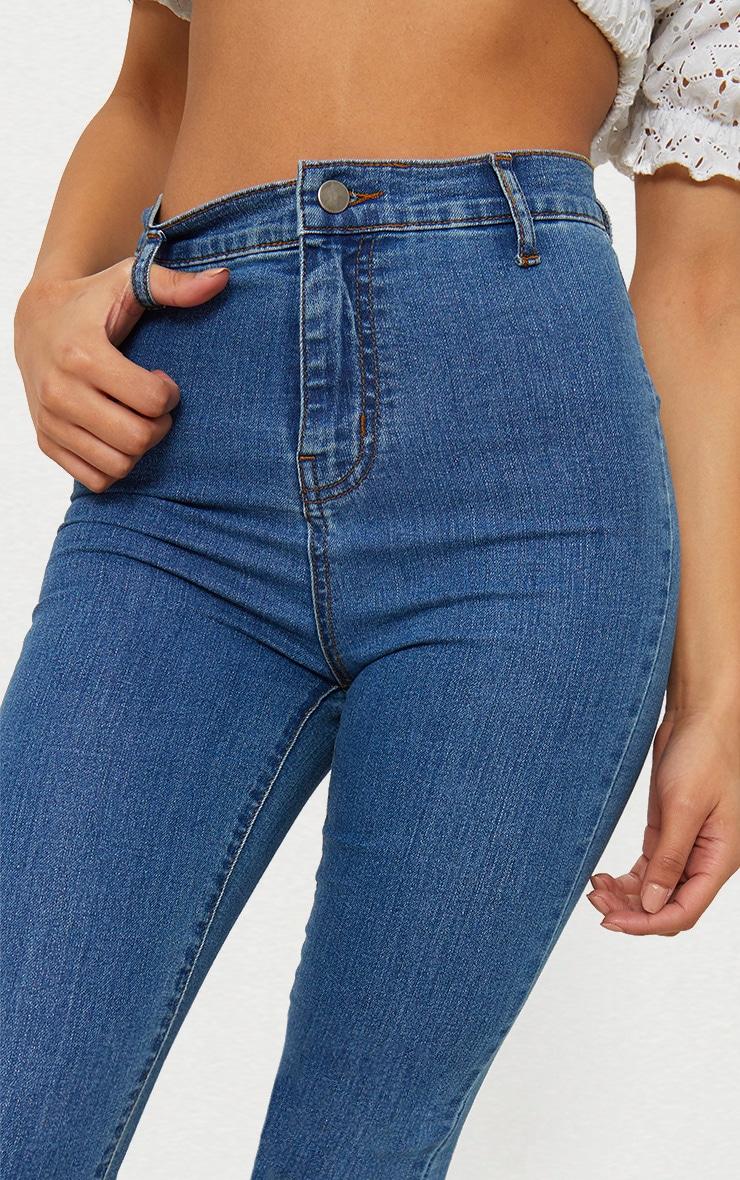Jean disco skinny moyennement délavé 6