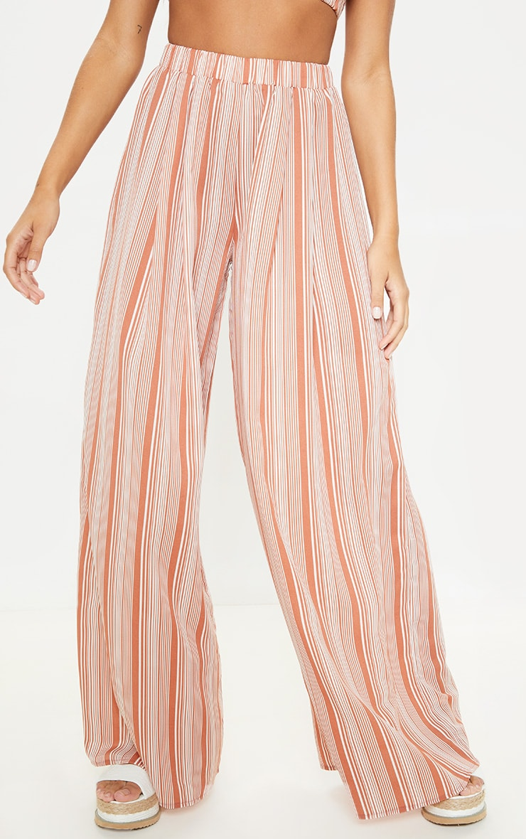 Rust Striped Wide Leg Trouser 2