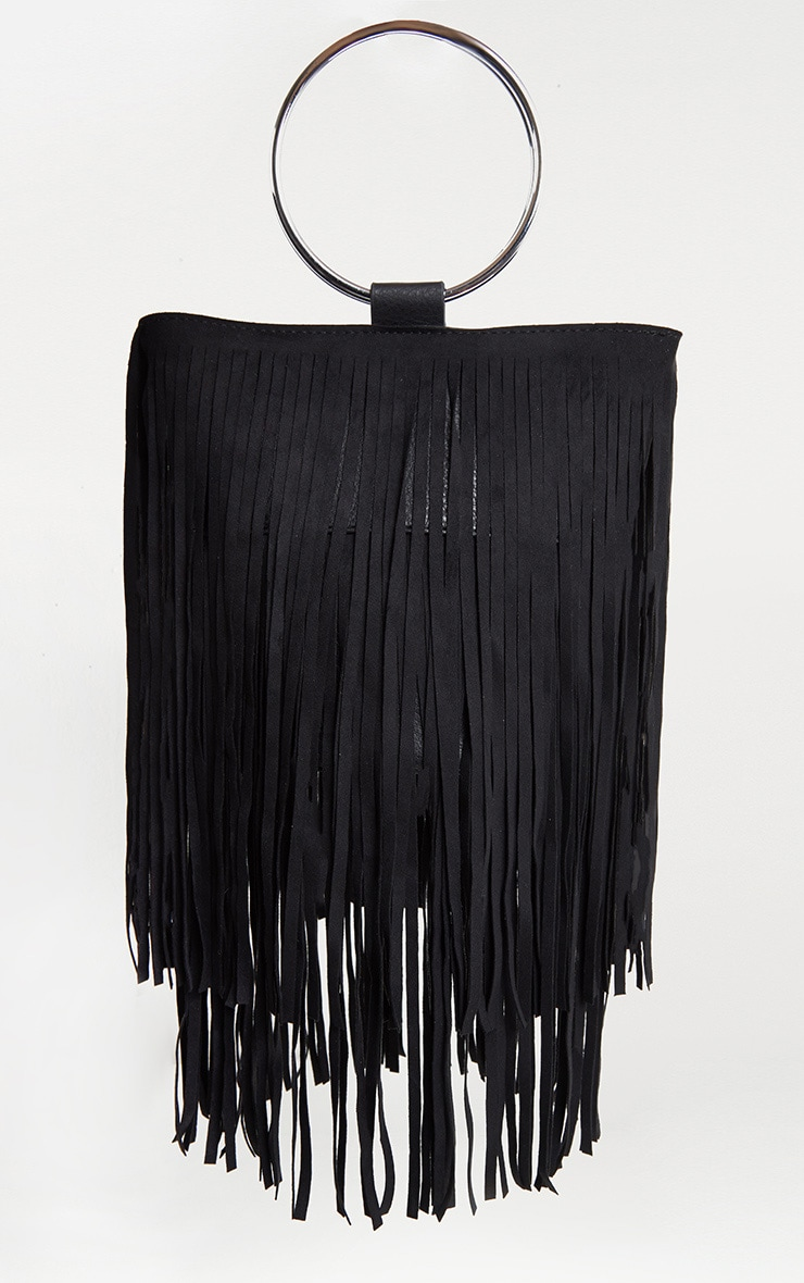 Black Suedette Fringe Grab Bag 2