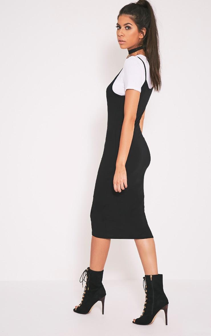 Ensemble Basic t-shirt noir et robe midi 4