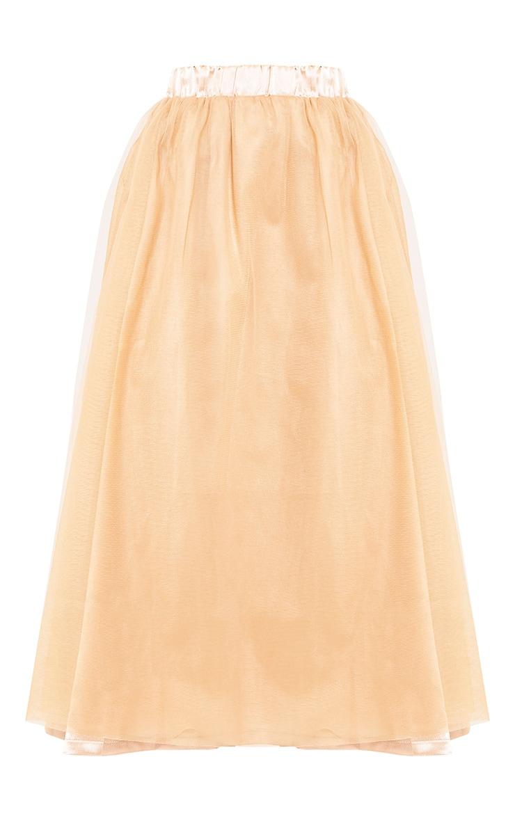 Amalia Champagne Layered Tulle Skirt 3