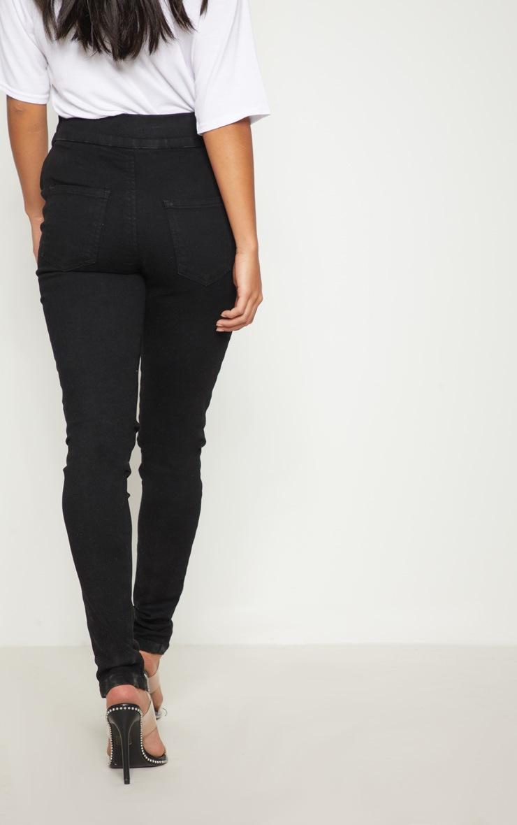 Petite Black Seam Detail Skinny Jeans 4