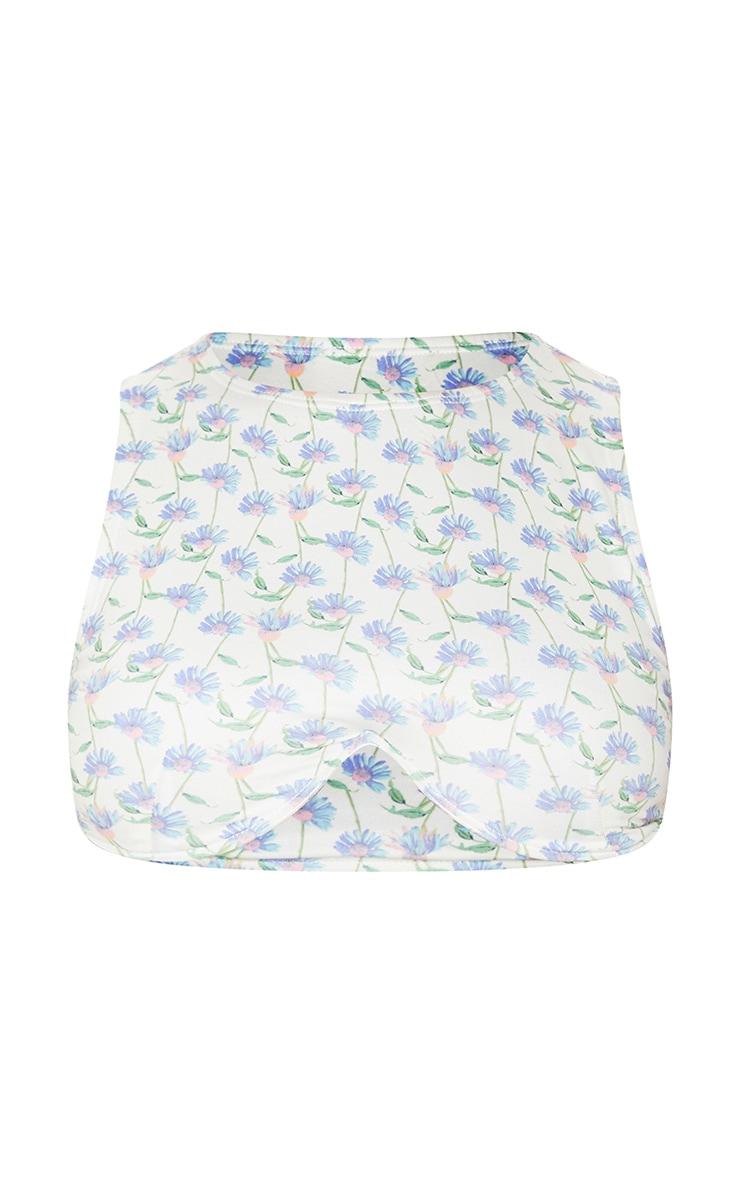 White Floral Underwired Bikini Top 5