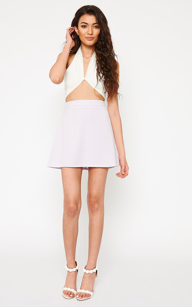 Eloise Cream Halterneck Crop Top 3