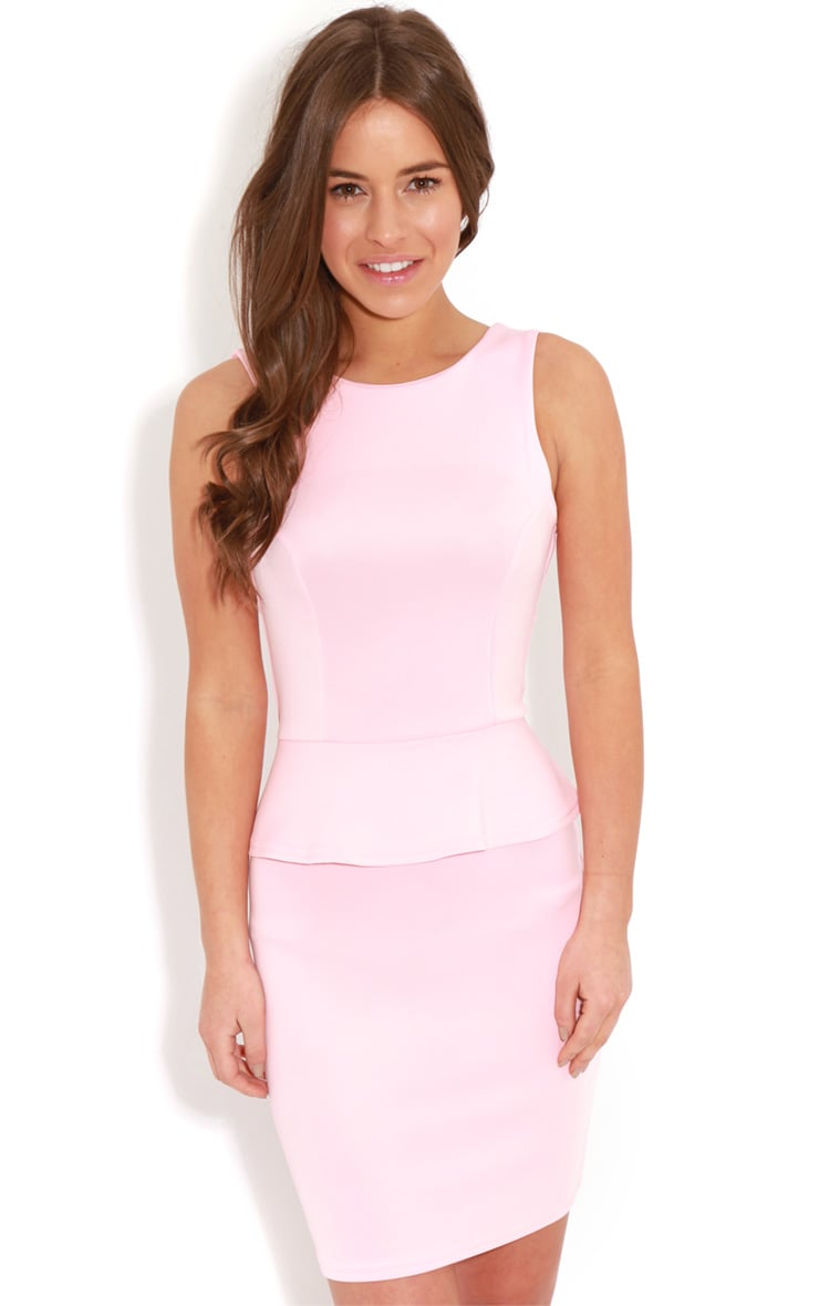 Rylie Pink Peplum Dress  1