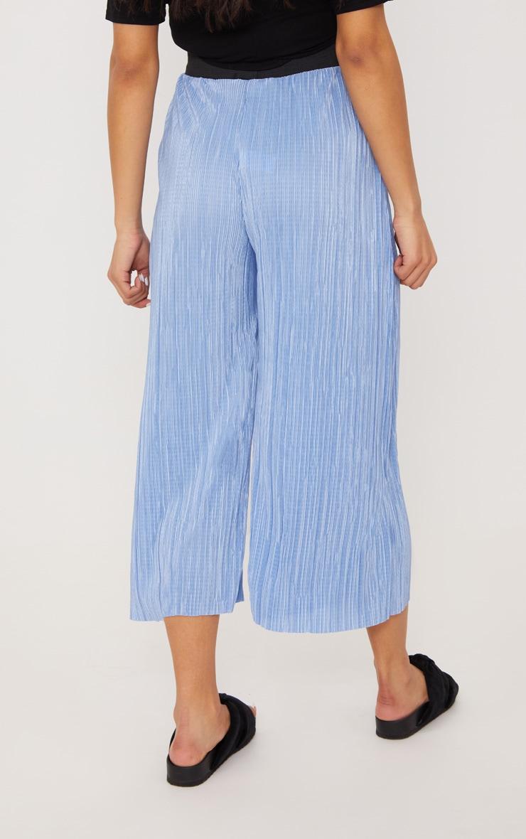 Dusty Blue Oversized Plisse Culotte 4