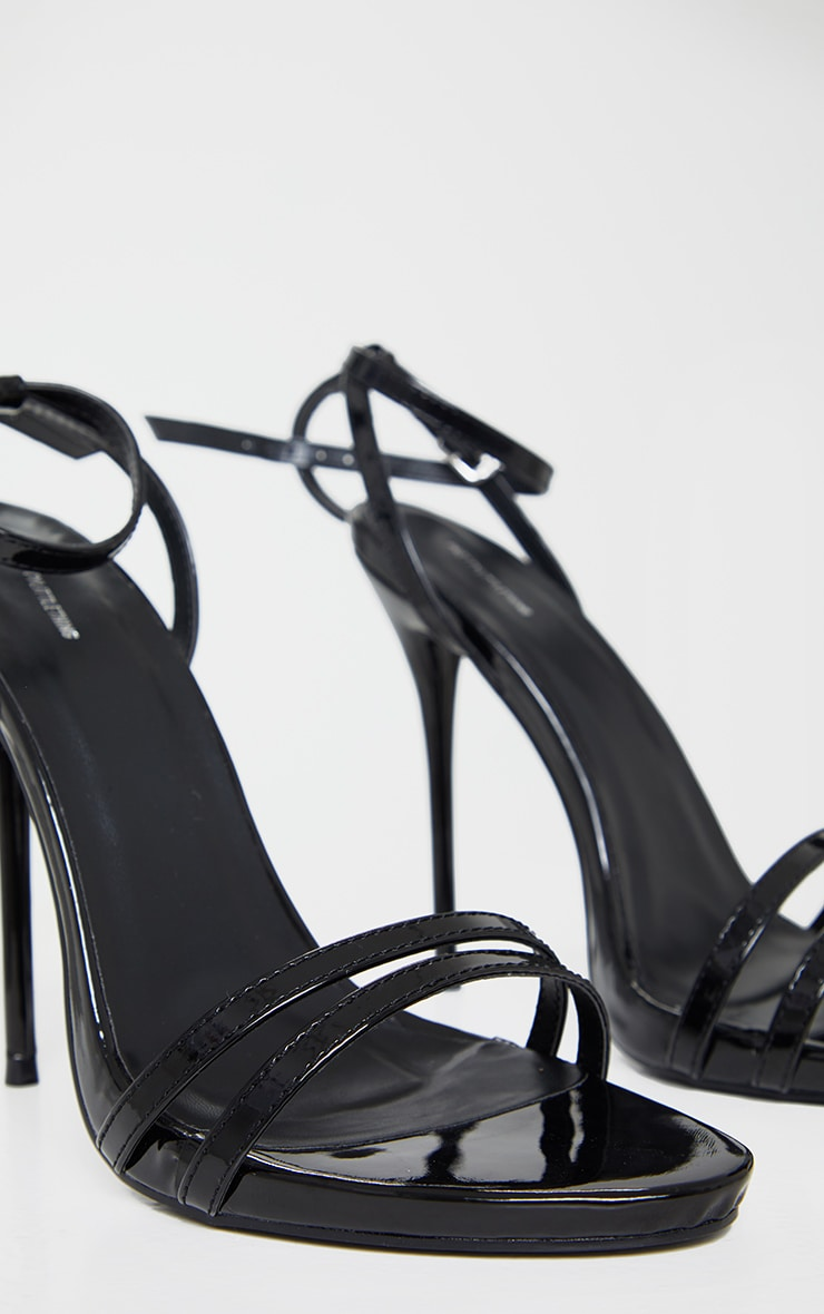 Black Wide Fit High Strappy Sandals 3