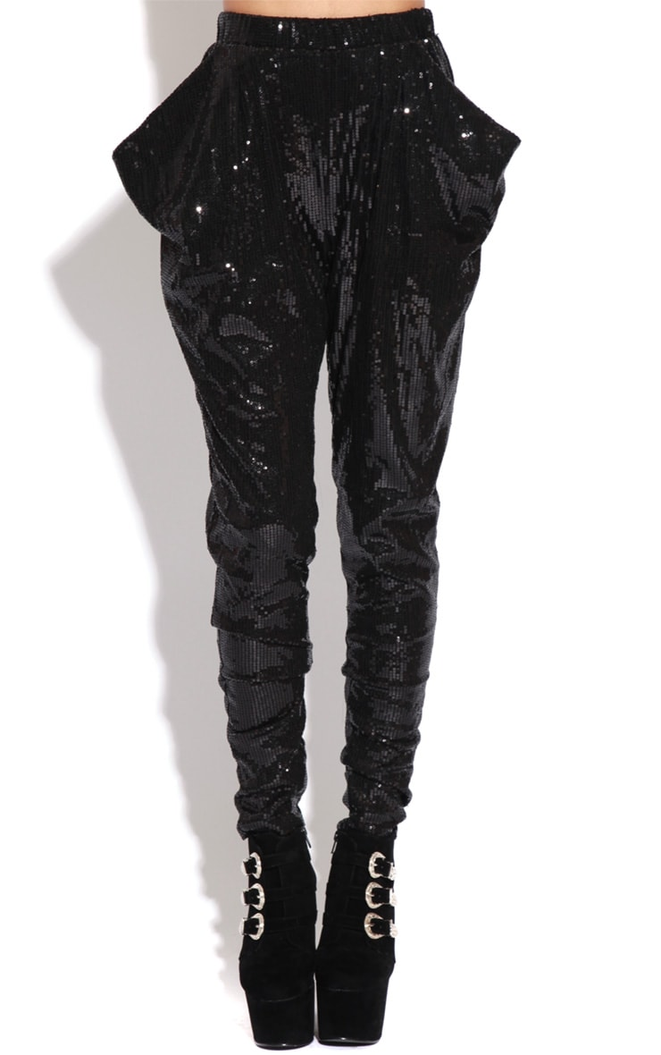 Lucia Black Sequin Trousers  2