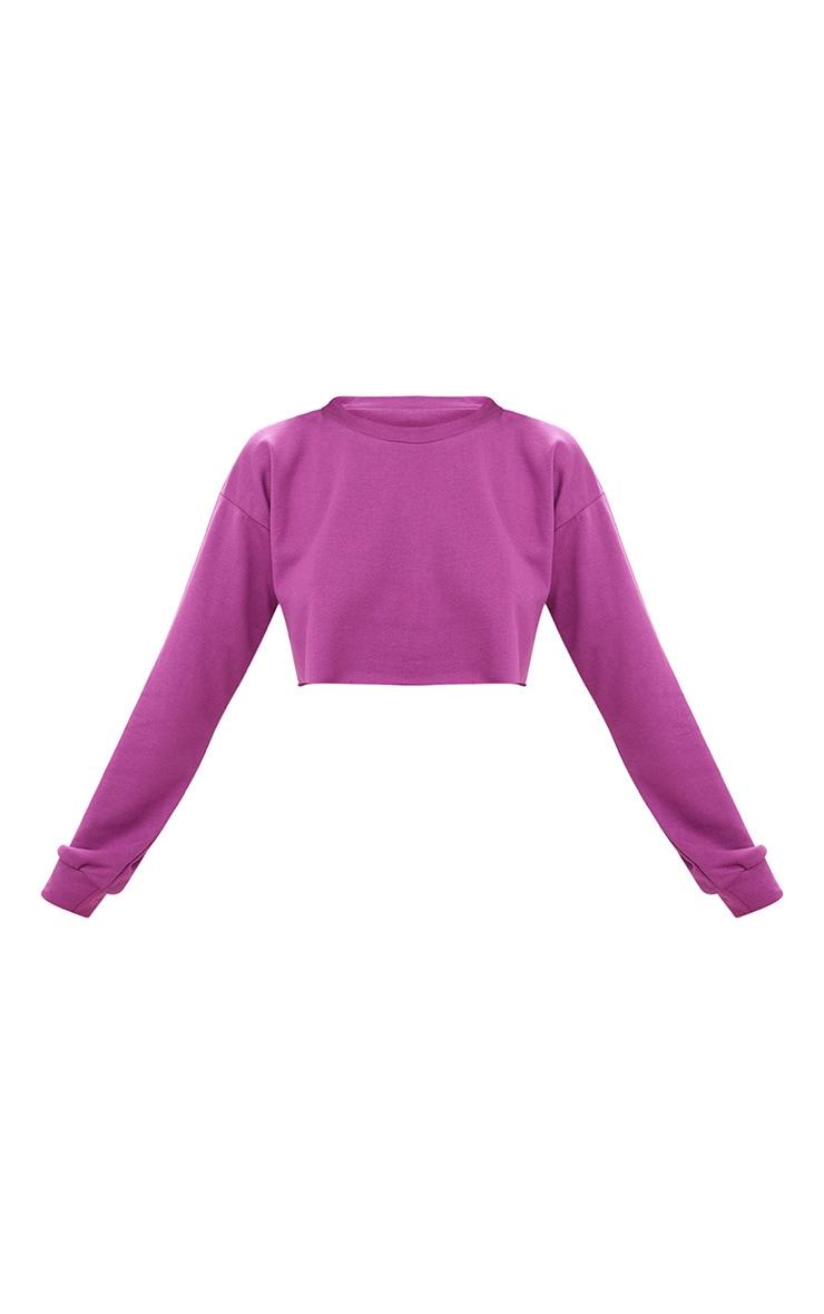 Violet Cut Off Crop Longsleeve Sweater 3