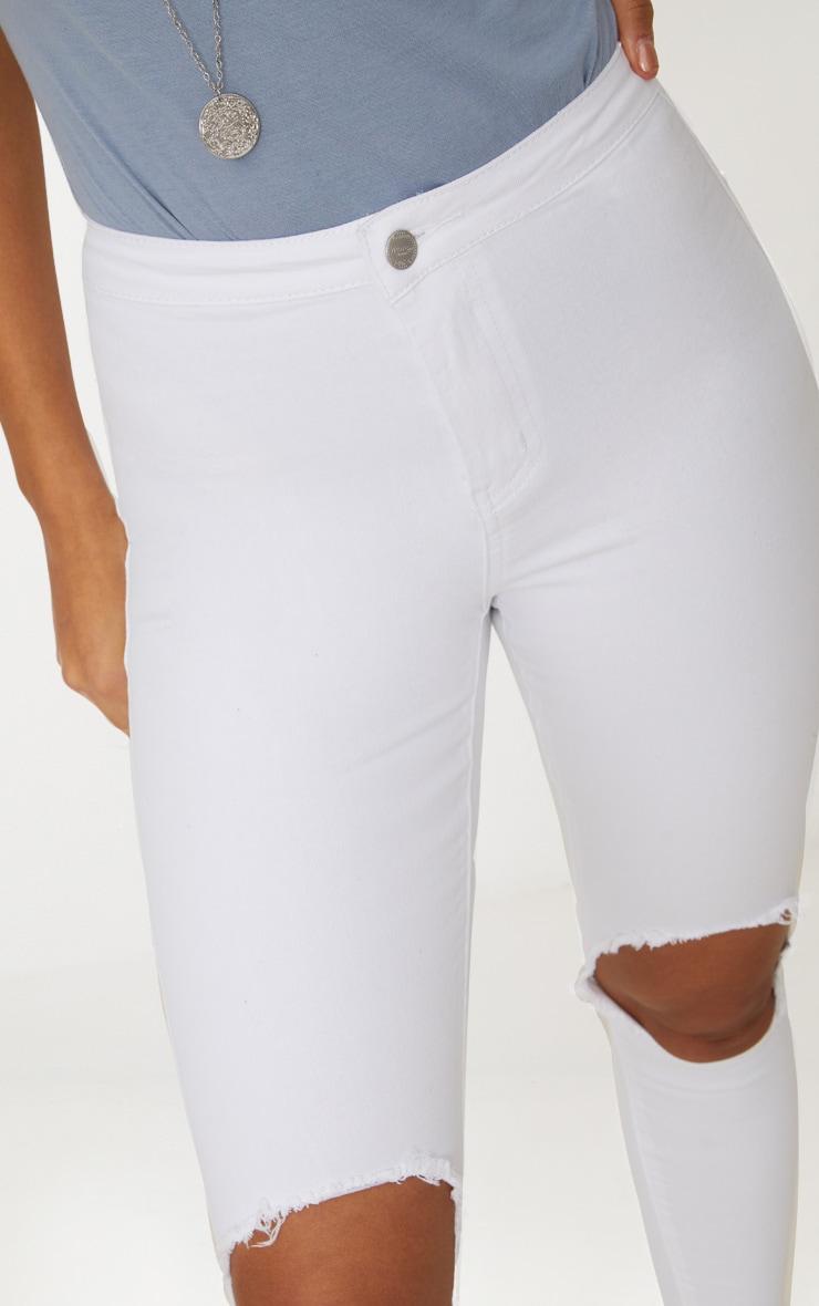 White  Knee Rip Disco  4