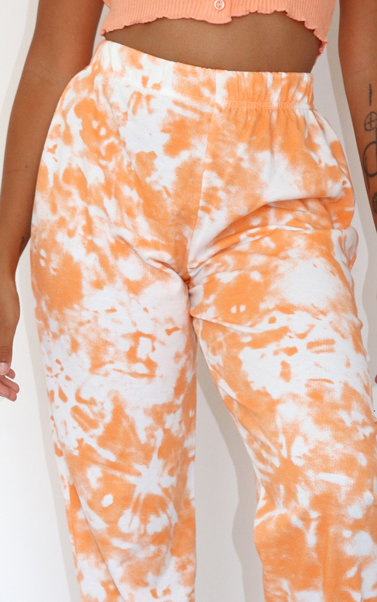 Petite Orange Tie Dye Joggers 4