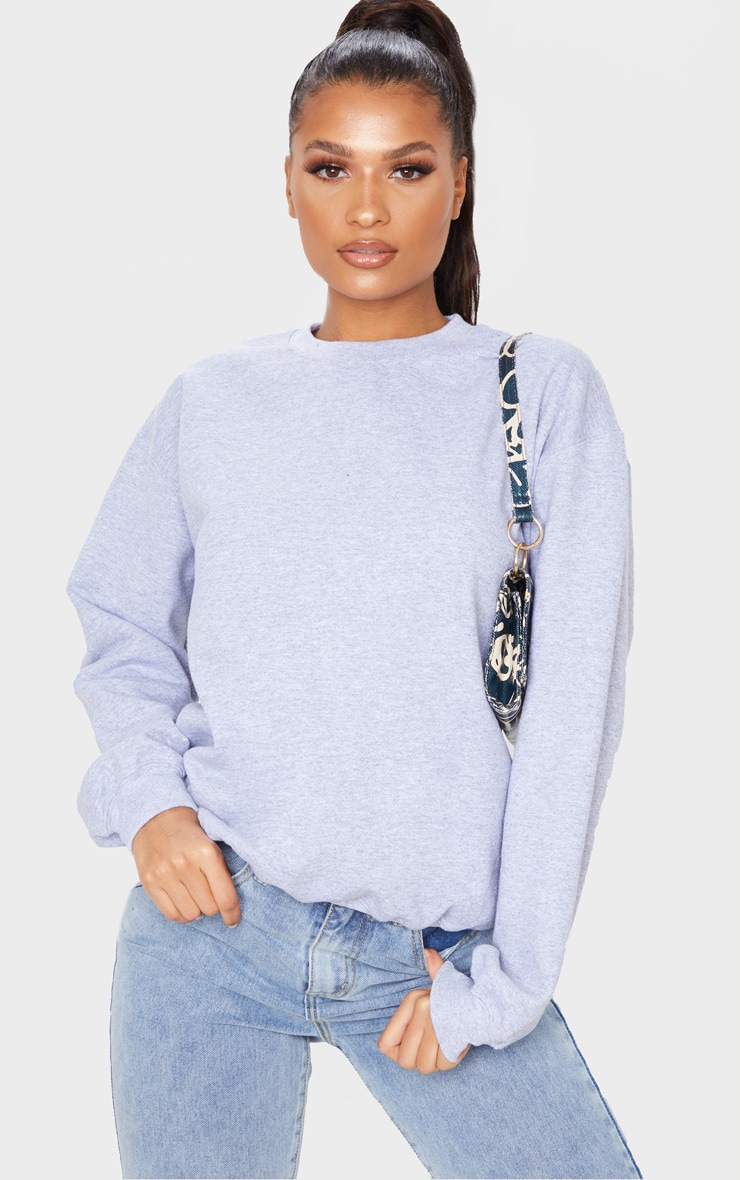 Grey California Slogan Oversized Sweater 5